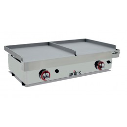 Plancha gas DUO (2x3,2kW) 400+400mm