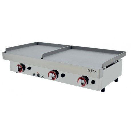 Plancha gas DUO (6,4kW+3,2kW) 600+400mm