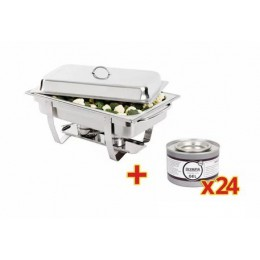 1 Chafin dish GN 1/1 + 24 recargas de combustible