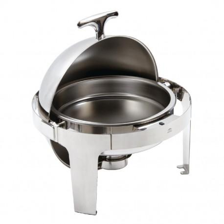 Chafing dish redondo 6L con tapa basculante