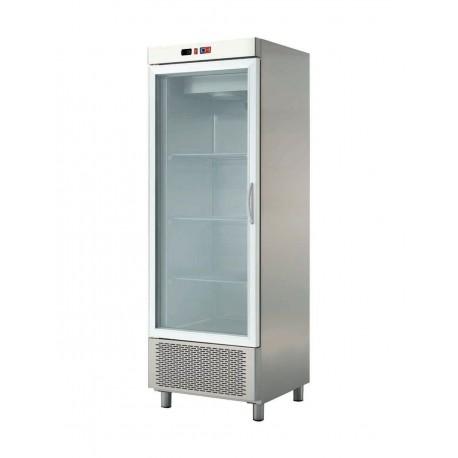armario expositor 1 puerta de cristal en acero inoxidable