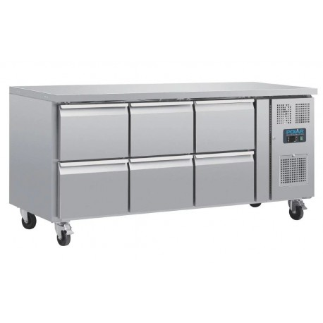 Bajo mostrador refrigerado 6 cajones