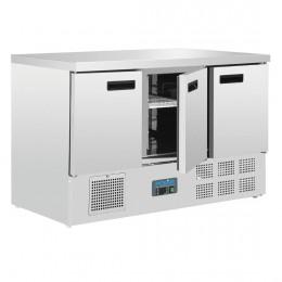 Mostrador refrigerado compacto 3 puertas 1370x700x880mm