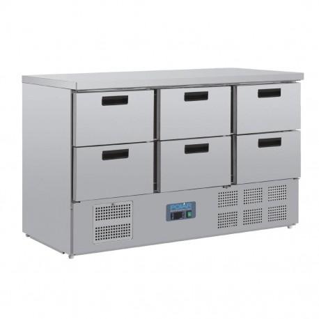 bajo mostrador refrigerado con 6 cajones