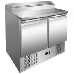Mesa de preparación de ensaladas 2 puertas 900x700x1010mm