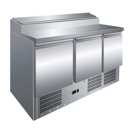 Mesa de preparación de ensaladas 3 puertas 1365x700x1010mm