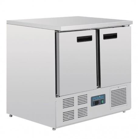Mostrador refrigerado compacto 2 puertas 900x700x880mm