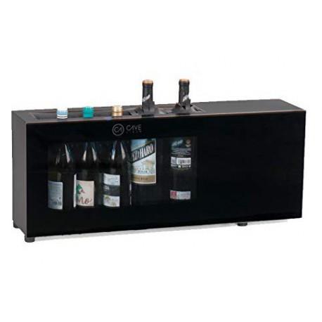 Expositor de barra para 6 botellas de vino - Refrigeración compresor