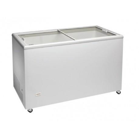 Congelador horizontal 1283x670x895mm con puerta vidrio corredera