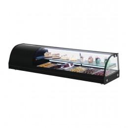 Vitrina refrigerada de tapas 1500mm con estante de cristal