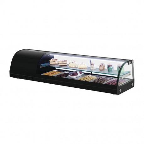 Vitrina refrigerada para tapas 1500mm con estante de cristal