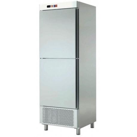Armario Refrigerado 2 Medias Puertas Acero Inoxidable 600L