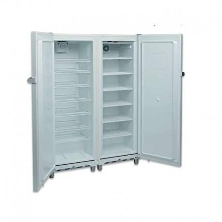 Armario mixto refrigerados y congelados 2 puertas lacado blanco