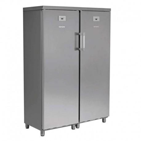 Armario mixto refrigerados y congelados 2 puertas acabado inoxidable