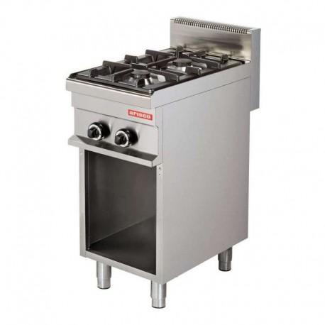 Cocina a gas 2 fuegos con mueble 400x700x900mm