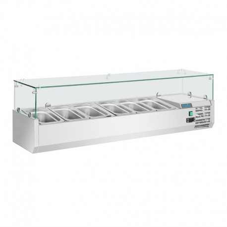 Vitrina de ingredientes 1500mm 5 GN 1/3 + 1 GN 1/2