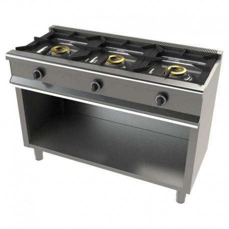 Cocina gas 3 fuegos con mueble 1200x550x850mm