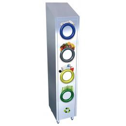 Contenedor de reciclaje vertical