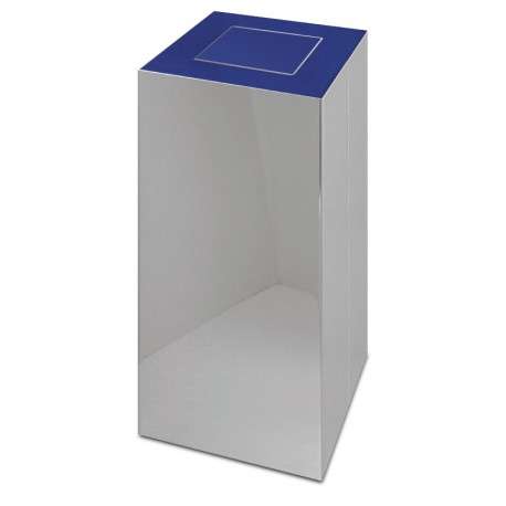 Papelera de reciclaje con tapa basculante