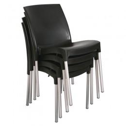 Juego de 4 sillas de polipropileno apto para interior y exterior