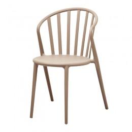 Juego de 4 sillones de polipropileno lamas apto para interior y exterior