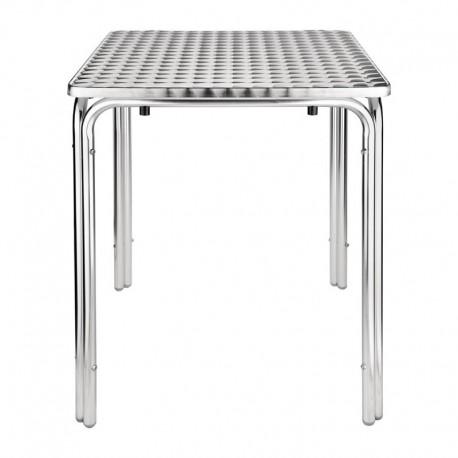 Mesa cuadrada apilable de acero inoxidable