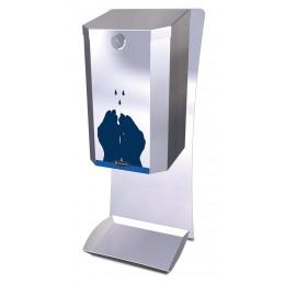 Dispensador automático de gel hidroalcohólico en acero inoxidable