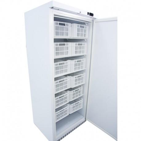 Armario congelador 600L con 12 cestas acabado blanco