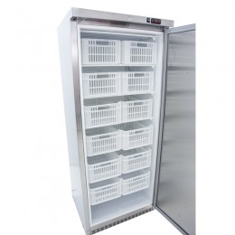 Armario congelador 600L con 12 cestas acabado acero inoxidable
