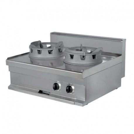 Cocina wok a gas 2 fuegos 16+16kW