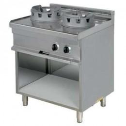 Cocina wok 2 fuegos con mueble