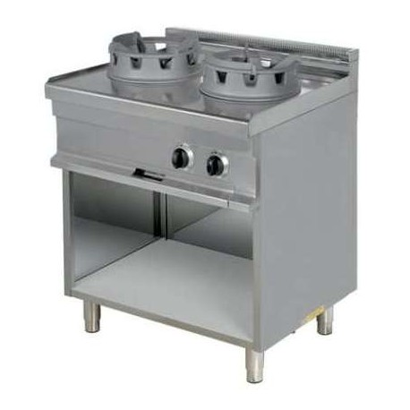 Cocina wok 2 fuegos con mesa