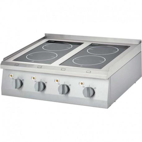 Cocina vitrocerámica 4 fuegos sobremesa