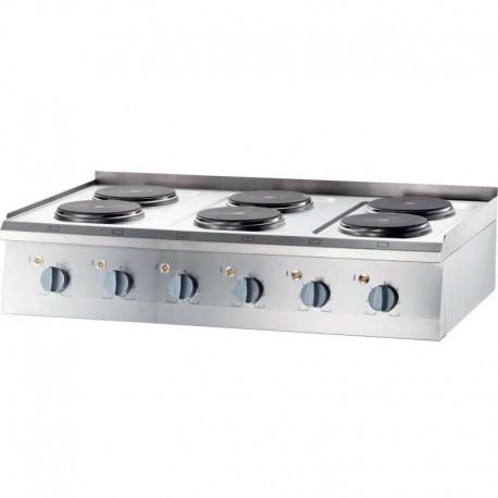 Cocina eléctrica sobremesa 6 placas