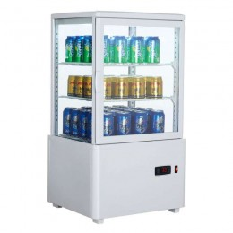 Vitrina frigorífica vertical 58L color blanco