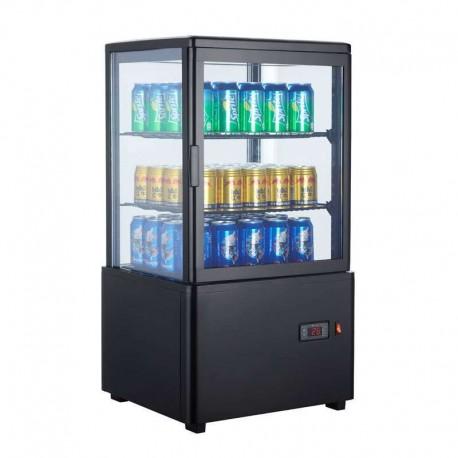 Vitrina frigorífica vertical 58L color negro
