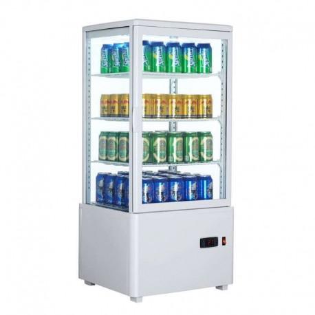 Vitrina frigorífica vertical 78L color blanco