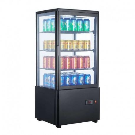 Vitrina frigorífica vertical 78L color negro