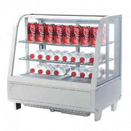 Vitrina fría sobre mostrador 100L color blanco