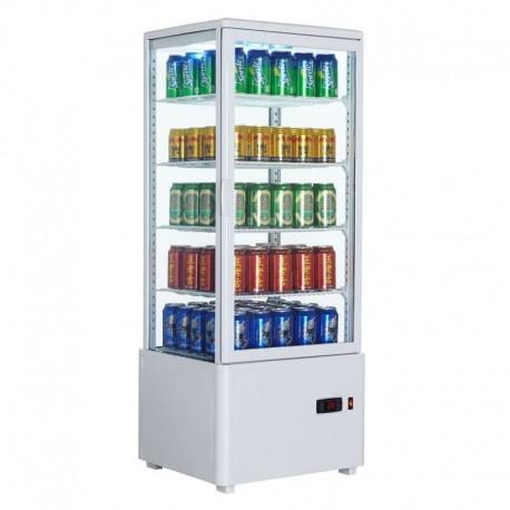 Vitrina frigorífica vertical 98L color blanco