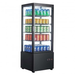 Vitrina frigorífica vertical 98L color negro
