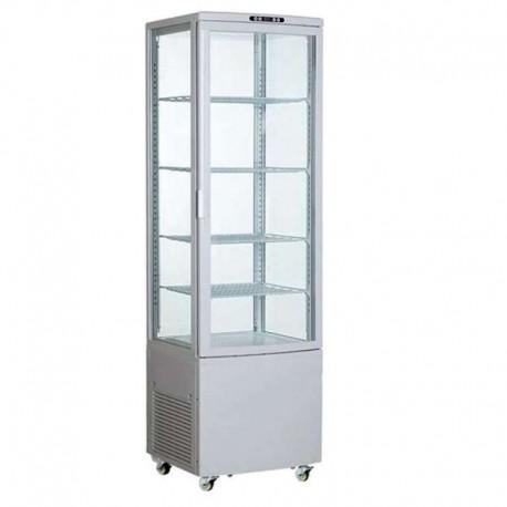 Vitrina frigorífica vertical grande 235L color blanco