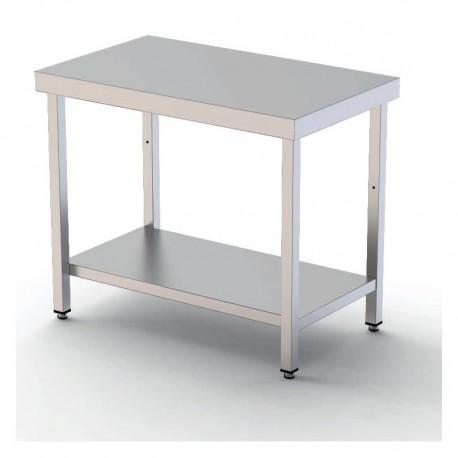 Mesa de trabajo central 1000mm acero inoxidable con 1 estante