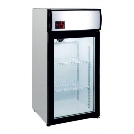 Armario expositor mini refrigerado 80L (-5º/+5ºC)