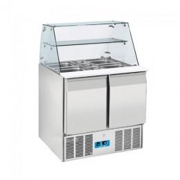 Mesa fría para ensaladas de 2 puertas