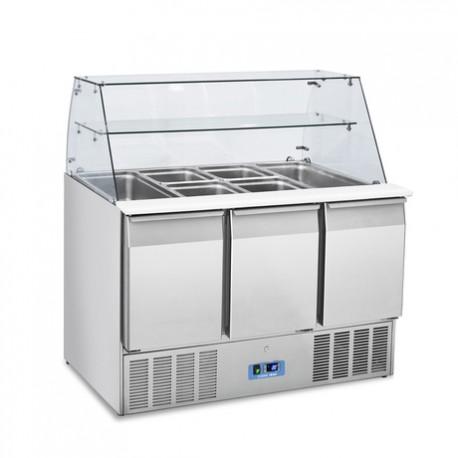 Mesa fría para ensaladas de 3 puertas