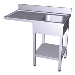 Fregadero para lavavasos 1000mm con estante