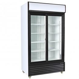 Armario expositor refrigerado 1000L 2 puertas correderas