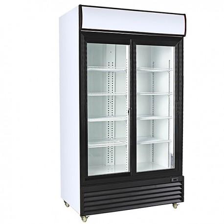 armario expositor refrigerado 2 puertas correderas 1000L