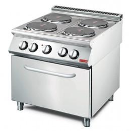 Cocina eléctrica 4 placas + horno 800x700x850mm Gastro-M